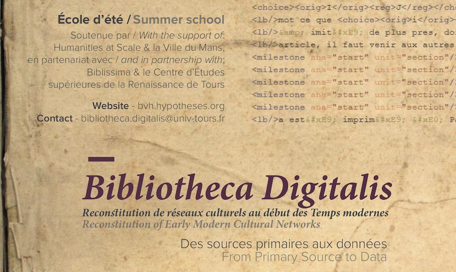 Bibliotheca Digitalis. Reconstitution de réseaux culturels au début des Temps modernes : des sources primaires aux données