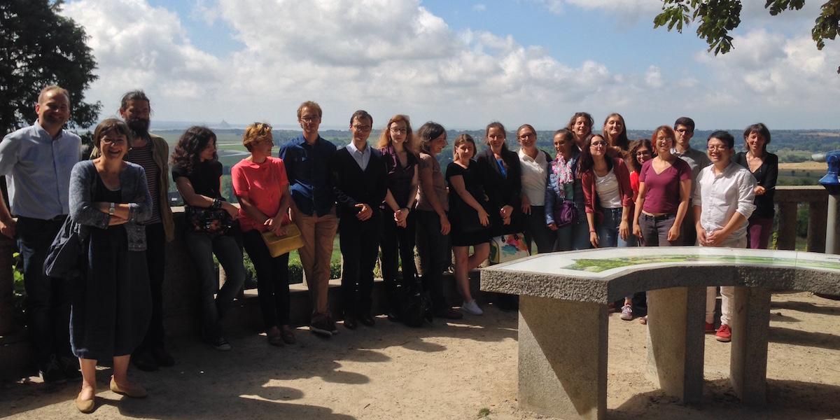 Participants et formateurs de l'école d'été Biblissima 2016 à Avranches