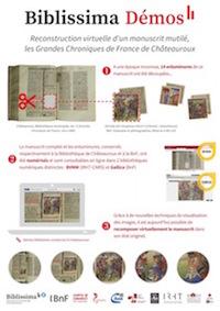 Reconstruction virtuelle d'un manuscrit mutilé : les Grandes chroniques de Châteauroux