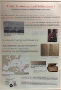 Où sont les manuscrits de Métrophane ? Reconstitution virtuelle de la bibliothèque de la Sainte-Trinité