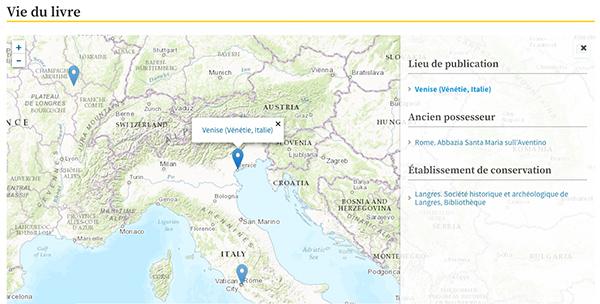 Copie d'écran : carte de la vie d'un livre