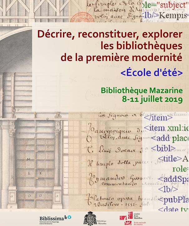 Ecole d'été Bibliothèque Mazarine (2019)