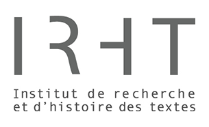 Logo Institut de recherche et d'histoire des textes