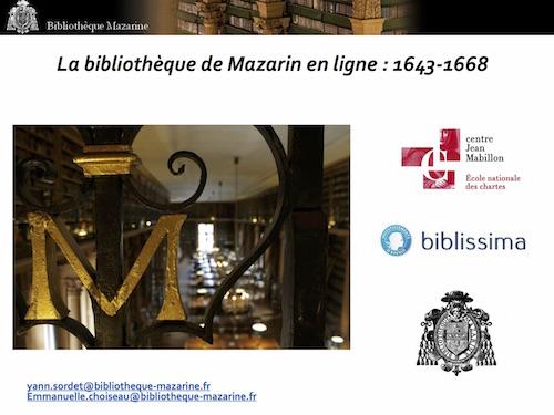 La bibliothèque de Mazarin en ligne : 1643-1668