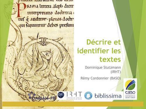 Décrire et identifier les textes de Saint-Bertin