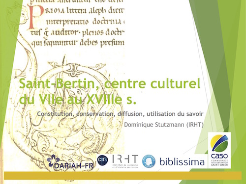 Saint-Bertin, centre culturel du VIIe au XVIIIe s.