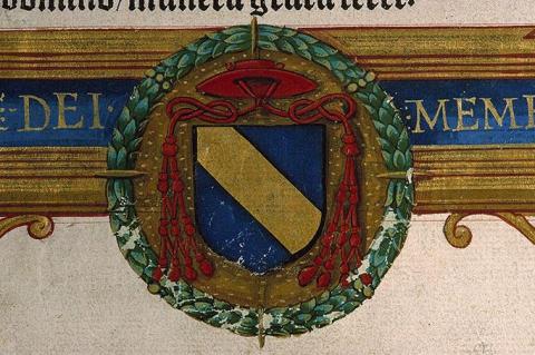 Armoiries de Claude de Longwy (Paris, Bibliothèque Sainte-Geneviève, Ms. 152, f. 5