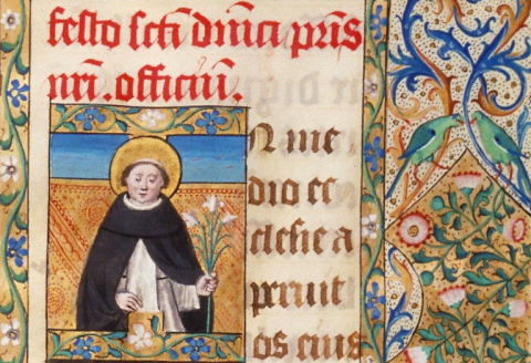 Toulouse BM Ms. 96, f. 247 - Saint Dominique